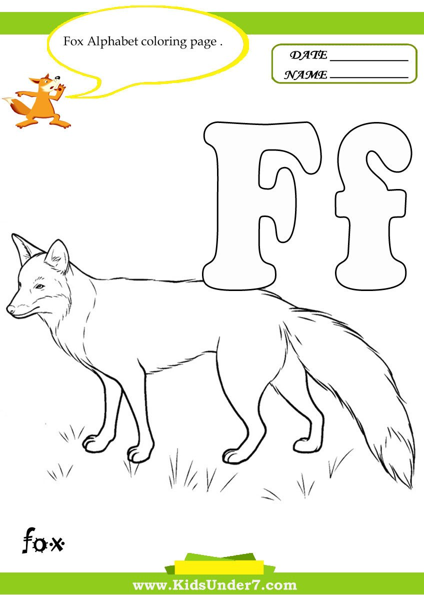 Letter F Worksheets for toddlers Kids Under 7 Letter F Worksheets and Coloring Pages