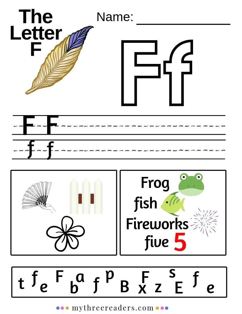 Letter F Worksheets for toddlers Letter F Activities for Preschool In 2020