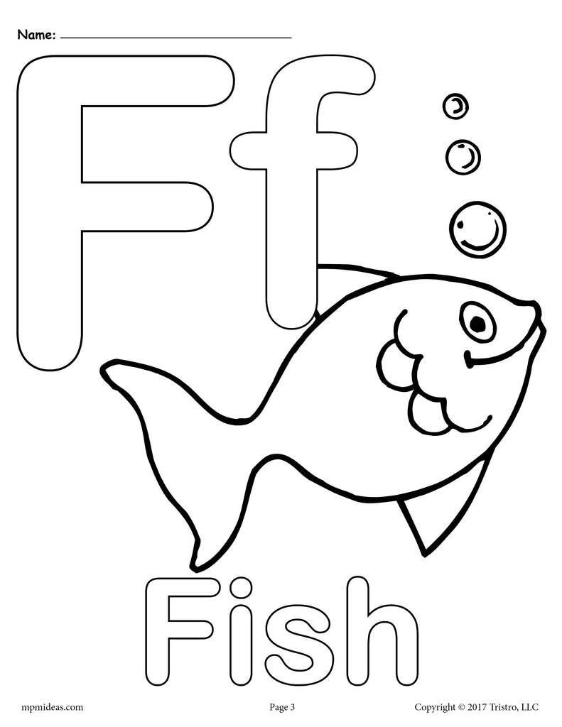 Letter F Worksheets for toddlers Letter F Alphabet Coloring Pages 3 Printable Versions