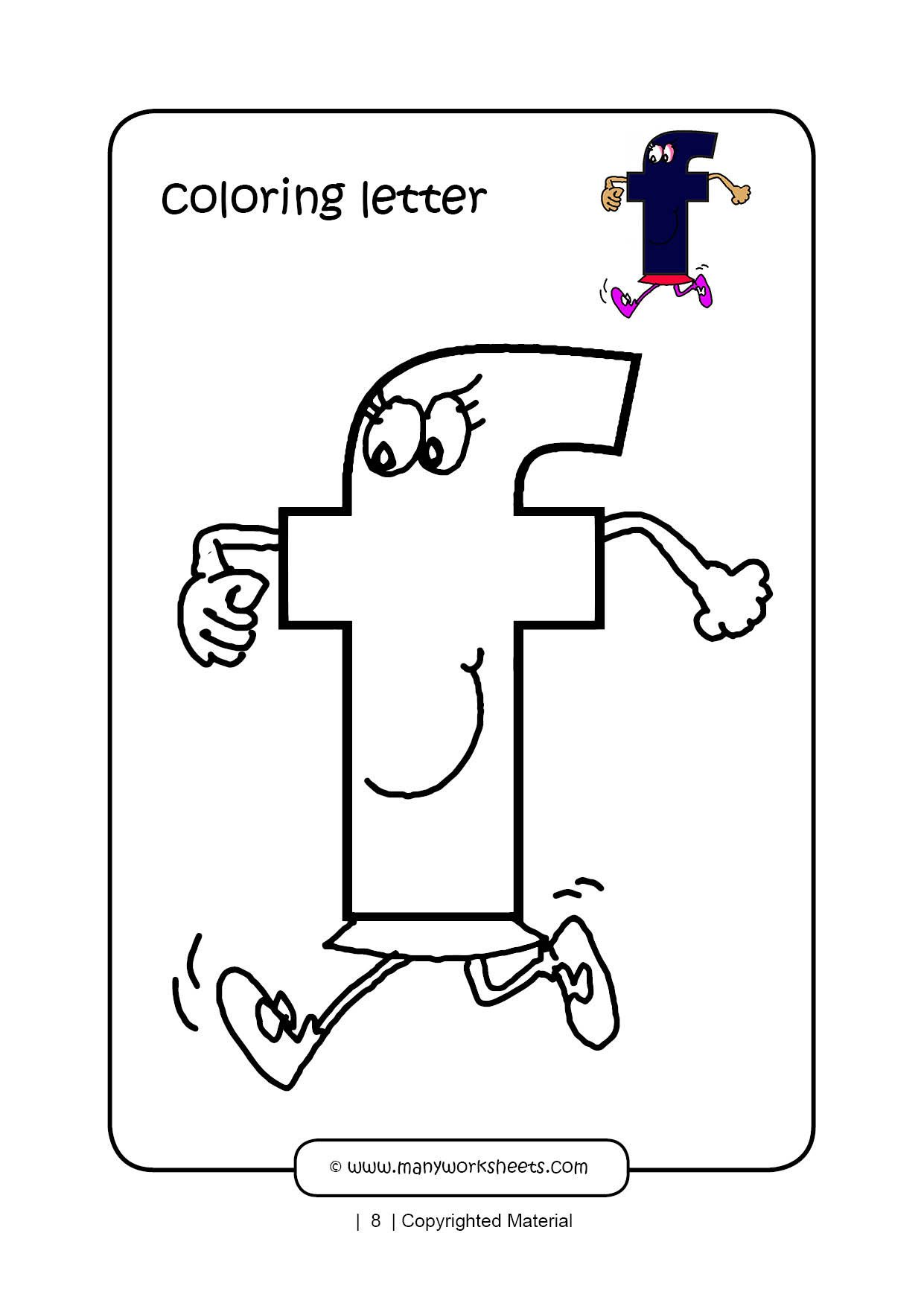 Letter F Worksheets for toddlers Letter F Coloring Page