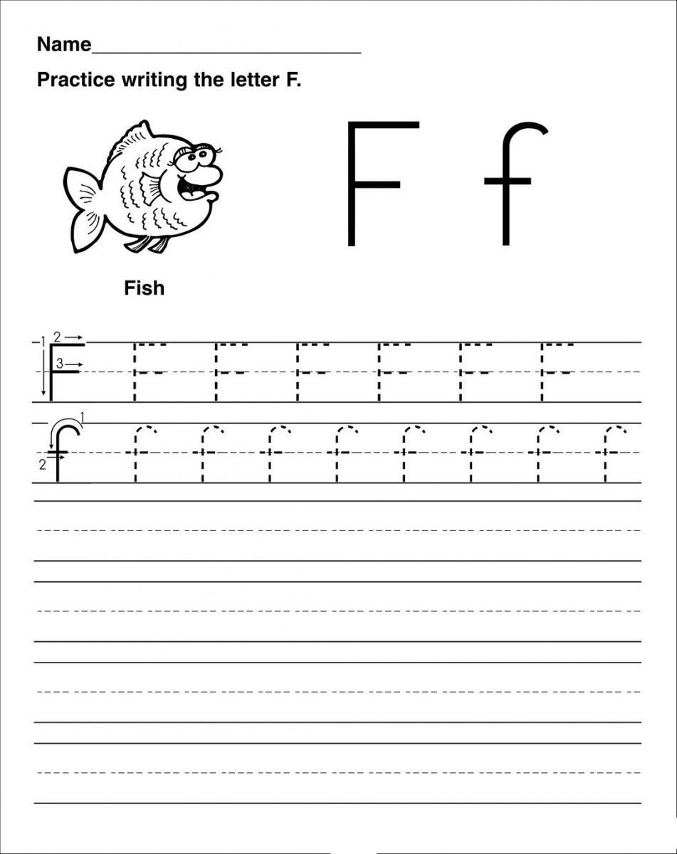 Letter F Worksheets for toddlers Letter F Worksheet Activities