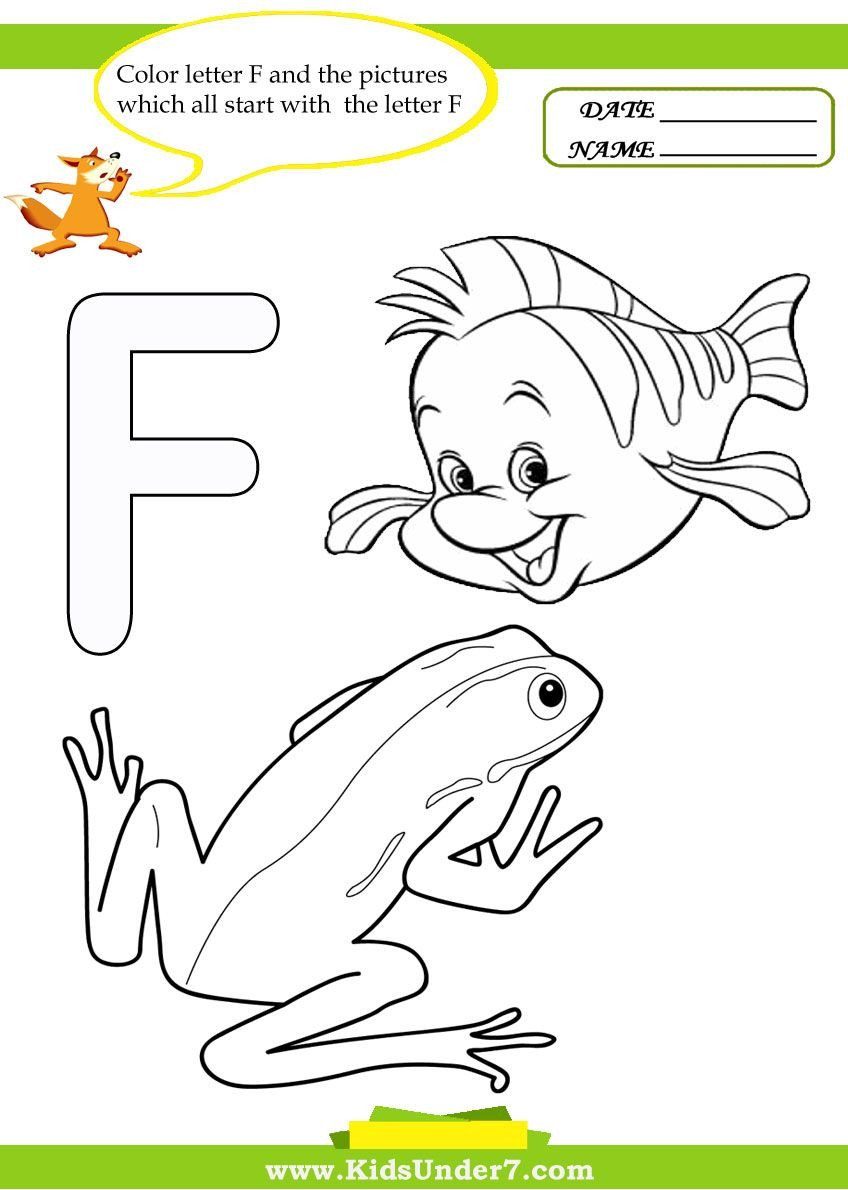 Letter F Worksheets for toddlers Letter F Worksheets and Coloring Pages