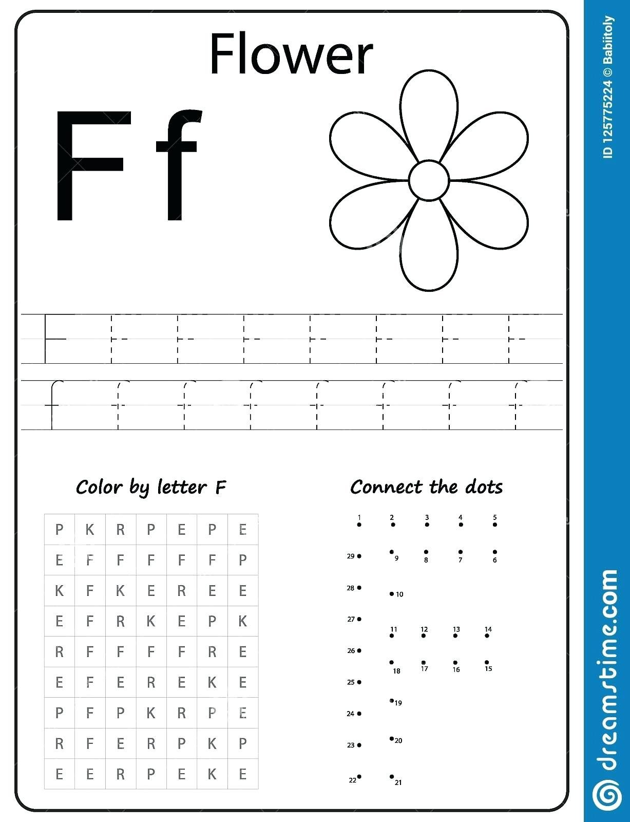 Letter F Worksheets for toddlers Letter F Worksheets for Kindergarten – Caset