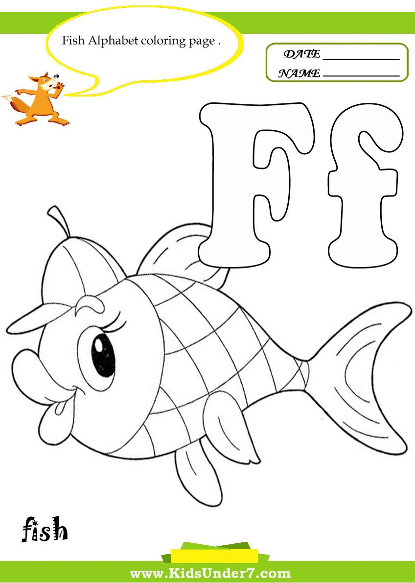 Letter F Worksheets for toddlers Stunning Letter F Coloring Page Ideas