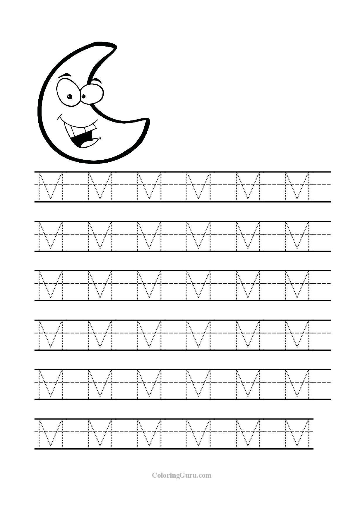Letter G Tracing Worksheets Preschool Printable Letter M Tracing Worksheets for Preschool Make A