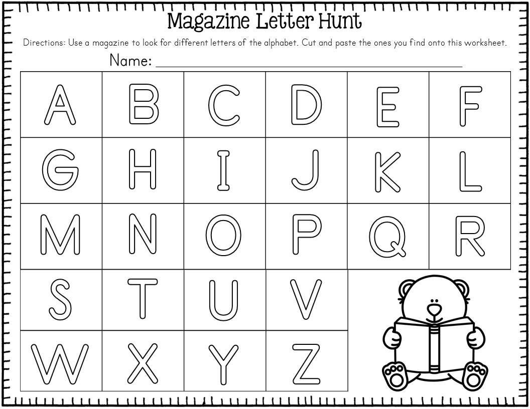 Letter Hunt Worksheet Freebie Magazine Letter Hunt Freebie Students Will Love