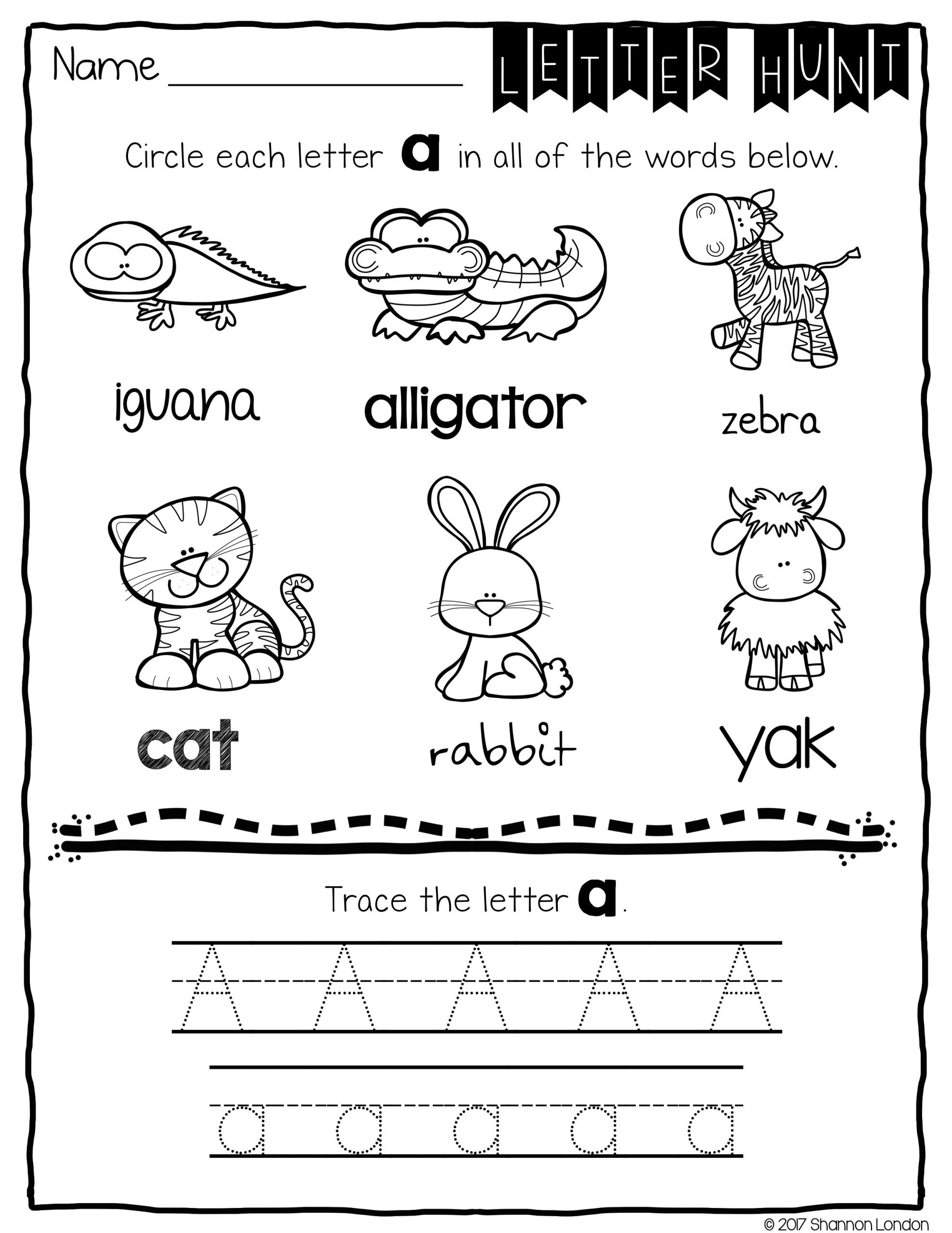 Letter Hunt Worksheet Letter Recognition Worksheets No Prep Printables