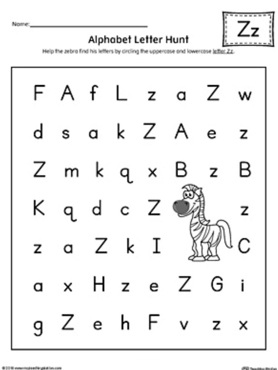 Letter Hunt Worksheet Pin by Angie Mustin On Letter Z