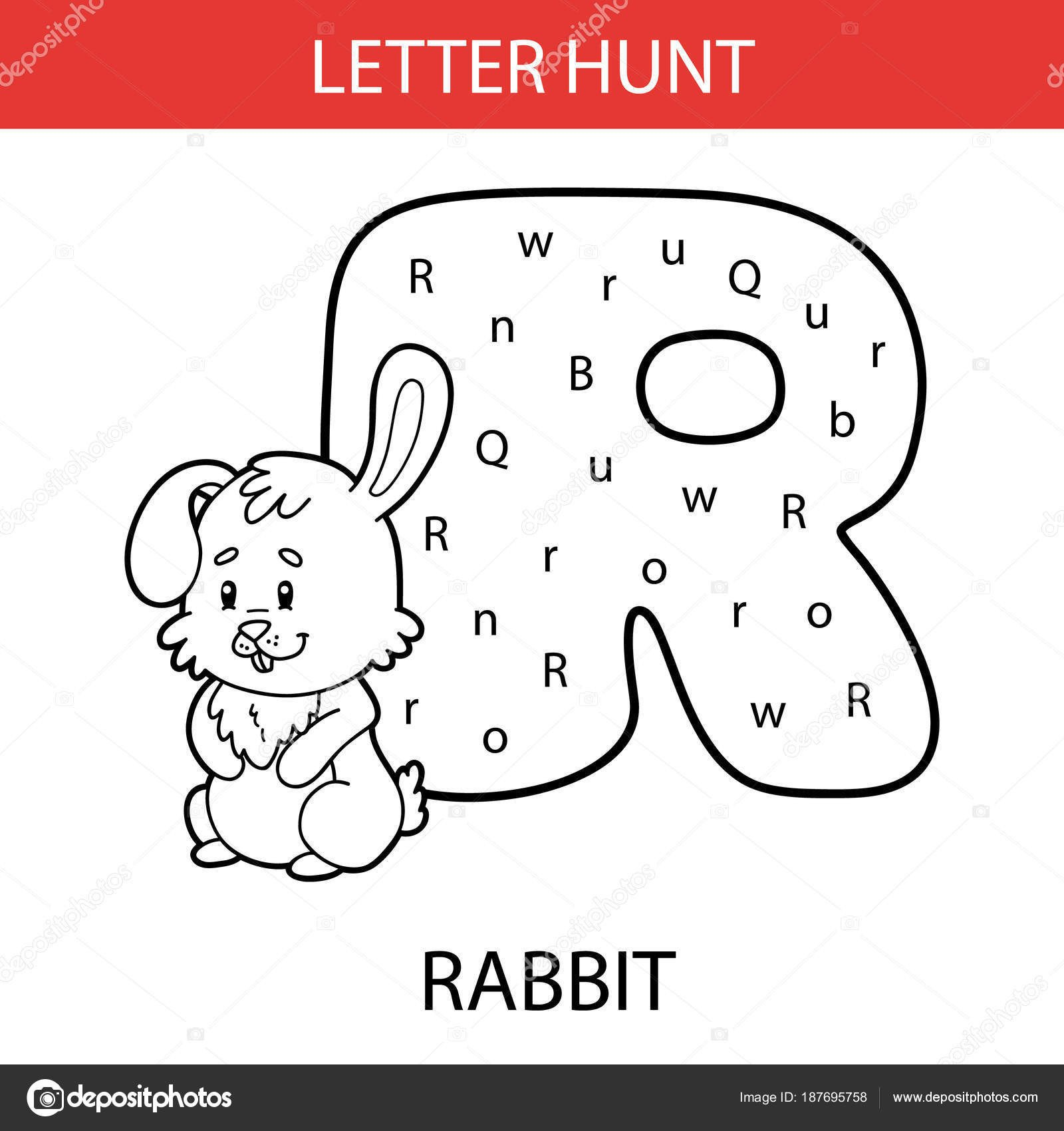Letter Hunt Worksheet Vector Illustration Of Printable Kids Alphabet Worksheets Educational Game Letter Hunt for Preschool Children Practice with Cartoon Character