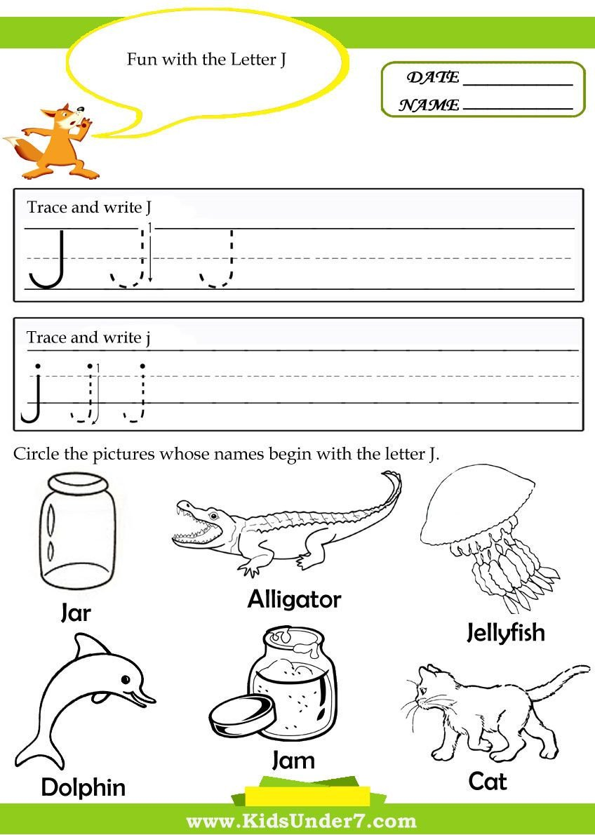 Letter J Worksheets Letter J Tracing Worksheets Preschool