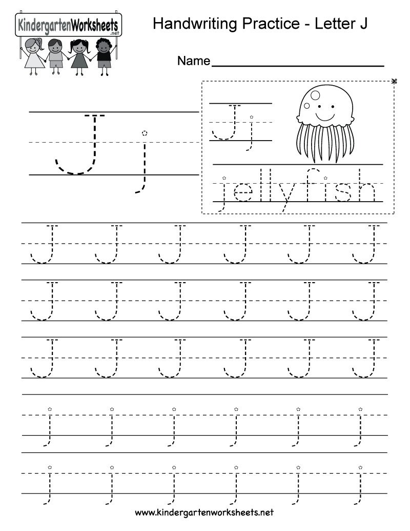 letter j writing practice worksheet this series of throughout letter j tracing page