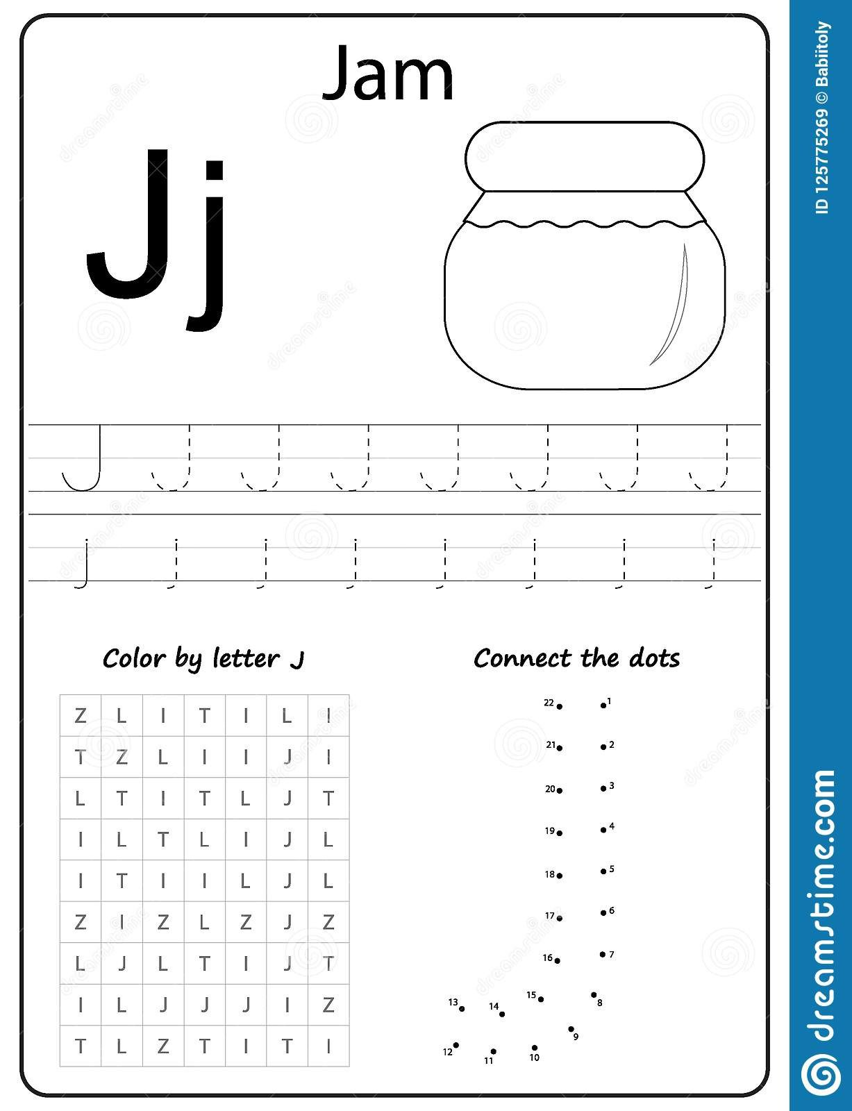 Letter J Worksheets Writing Letter Worksheet Alphabet Exercises Game for Kids