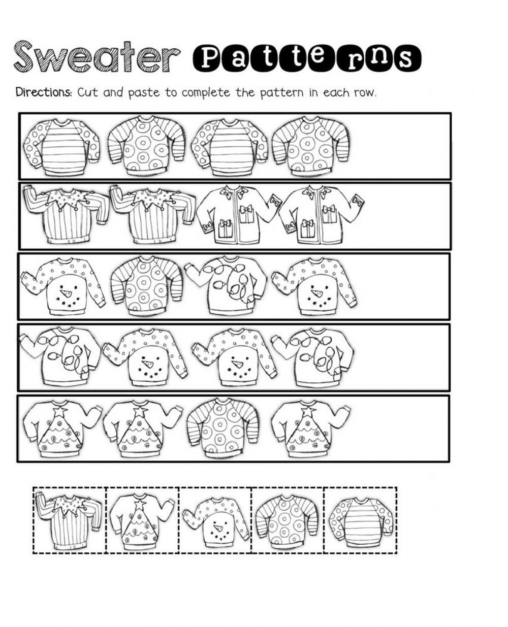 Line Pattern Worksheets Clothes Patterns Interactive Worksheet
