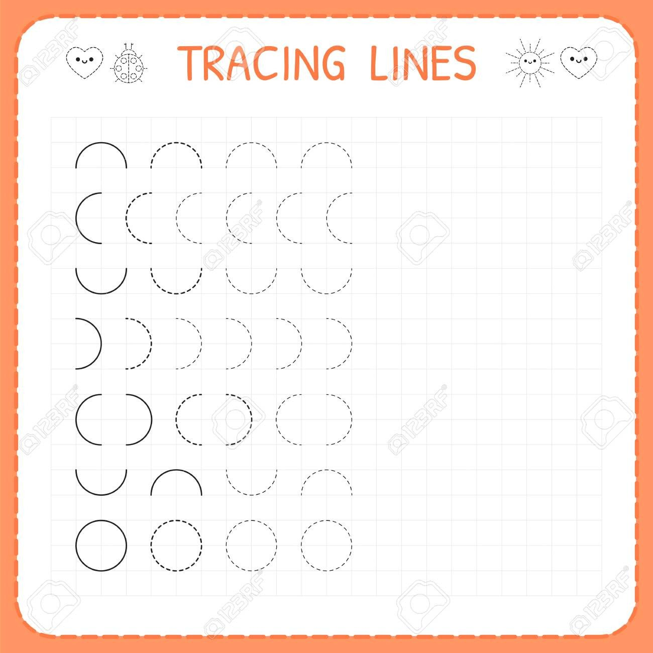 Line Pattern Worksheets Tracing Lines Worksheet for Kids Basic Writing Working Pages