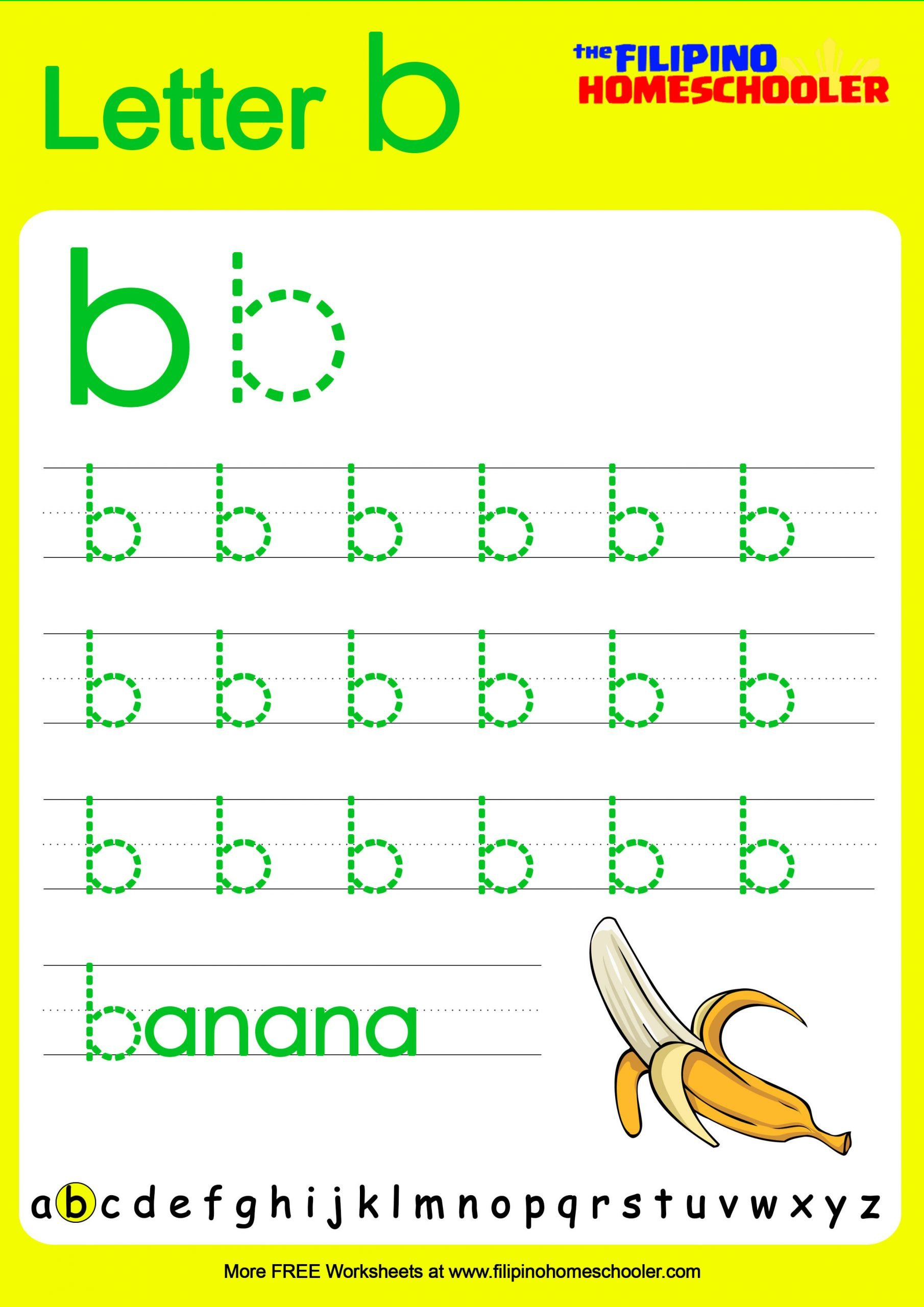 Letter Basic Tracing lower B