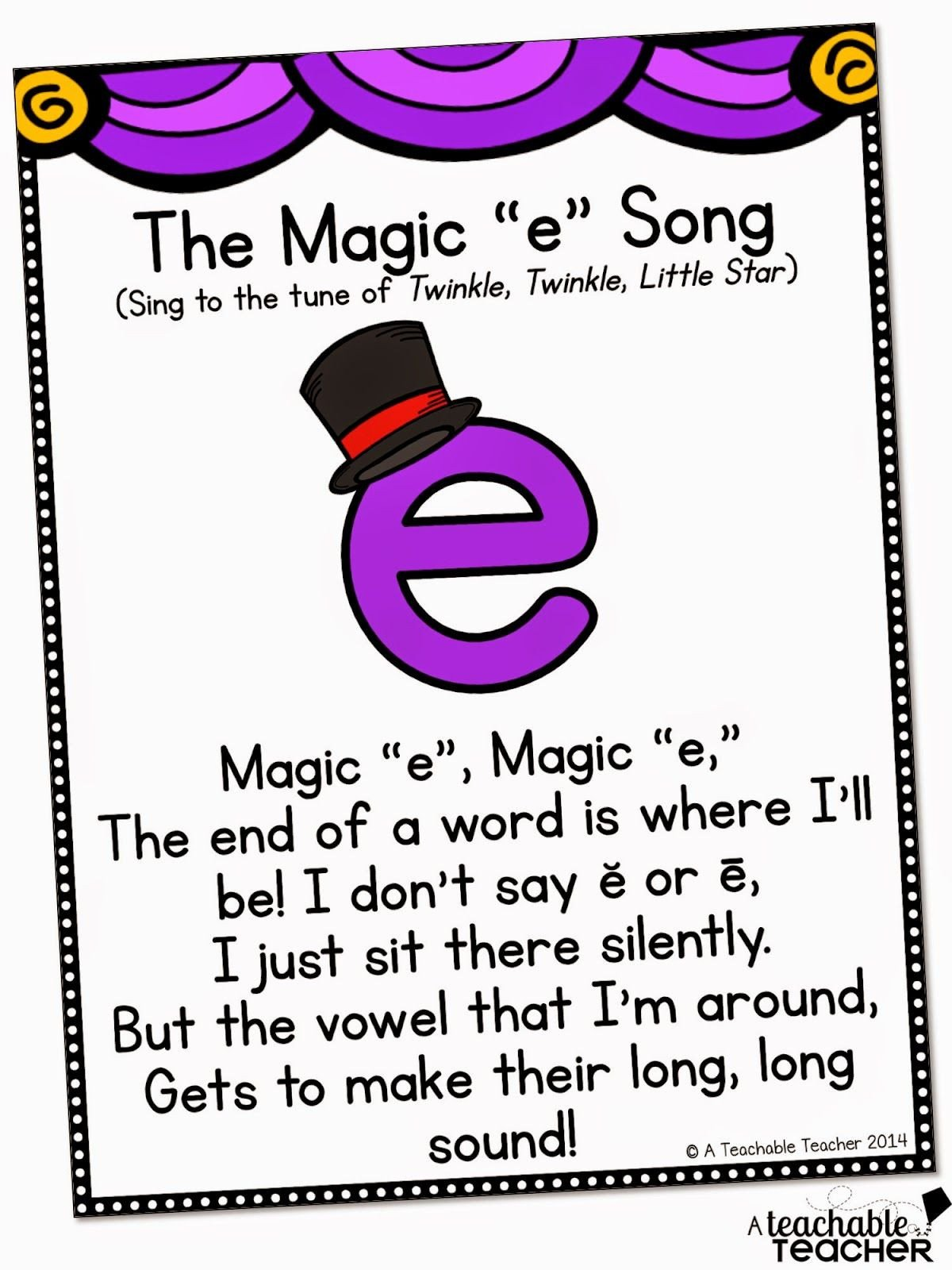 Magic E Worksheets Free A Teachable Teacher Teaching Cvce with Magic E
