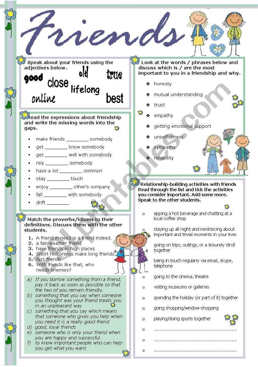 Making Friends Worksheets Friends Worksheet
