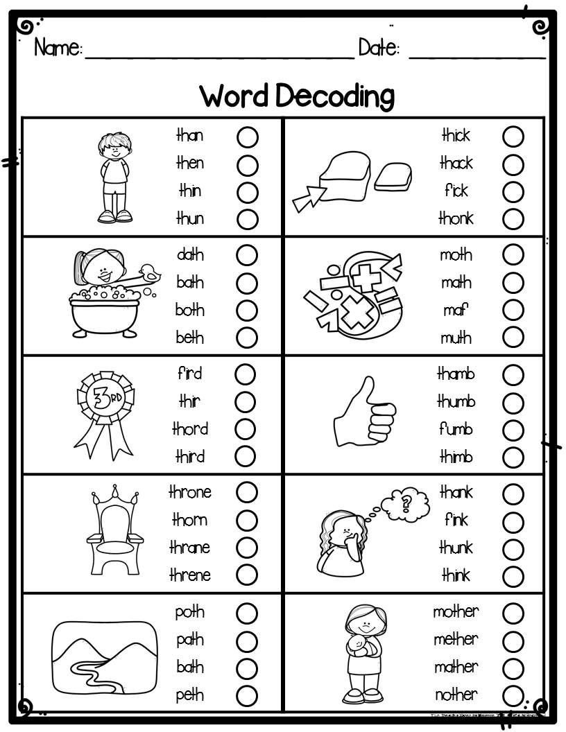 Making Friends Worksheets Kindergarten Kindergarten Word Decoding Practice & assessment Worksheets