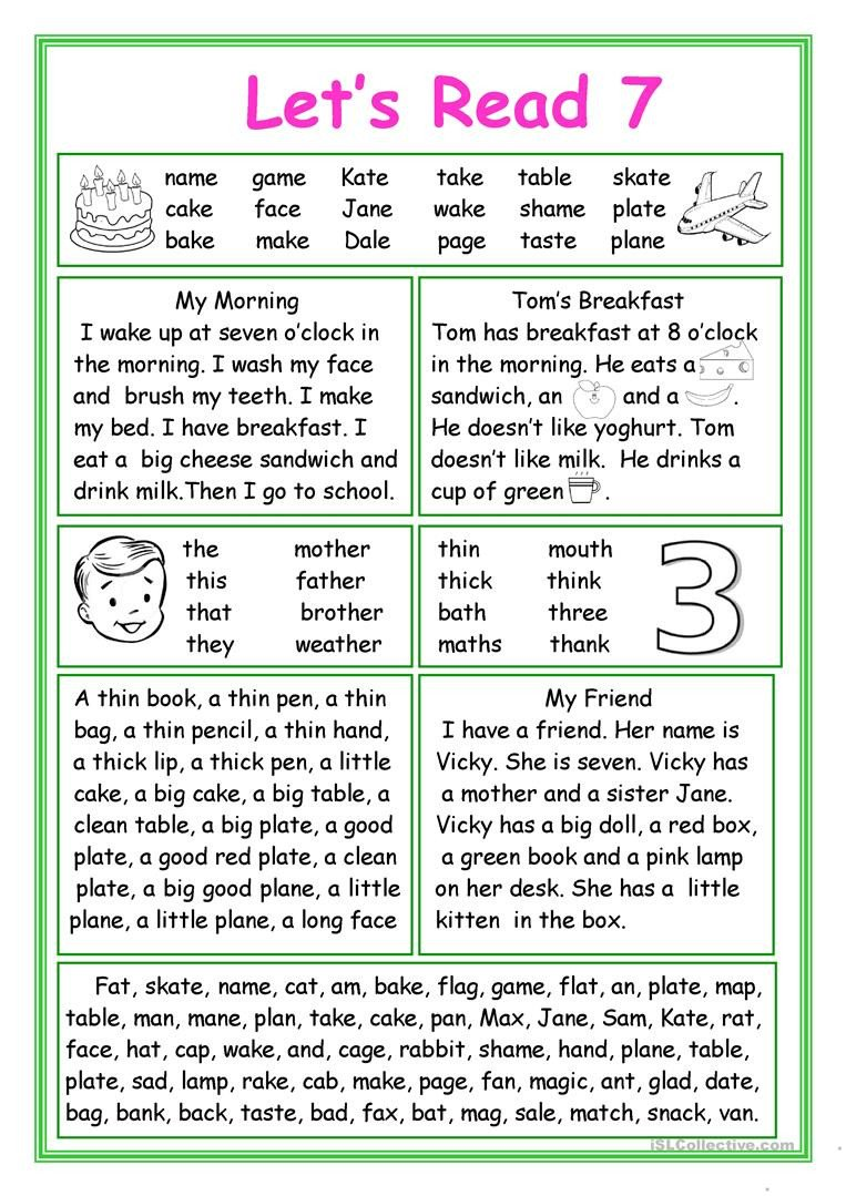 Making Friends Worksheets Kindergarten Let S Read 7 English Esl Worksheets for Distance Learning