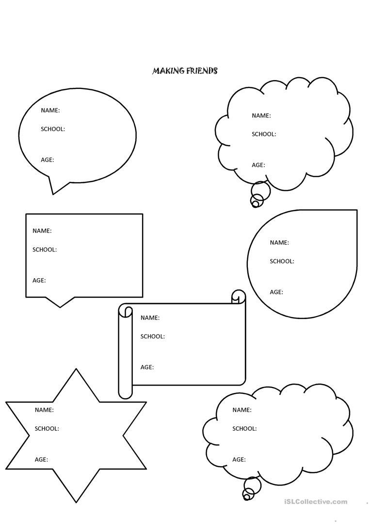 Making Friends Worksheets Making Friends English Esl Worksheets for Distance