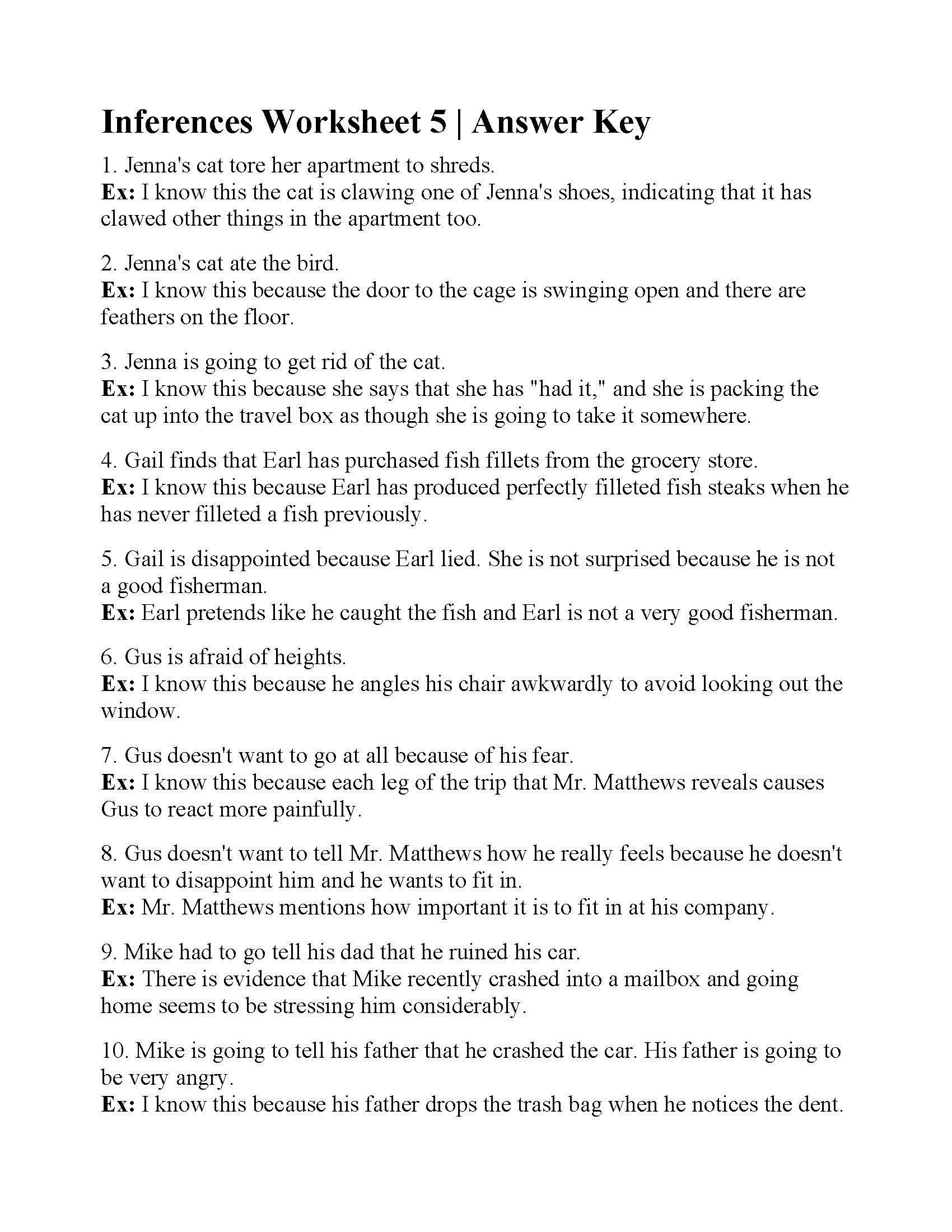 Making Inferences Worksheet Pdf Hiddenfashionhistory Page 2 Multiplication Worksheets