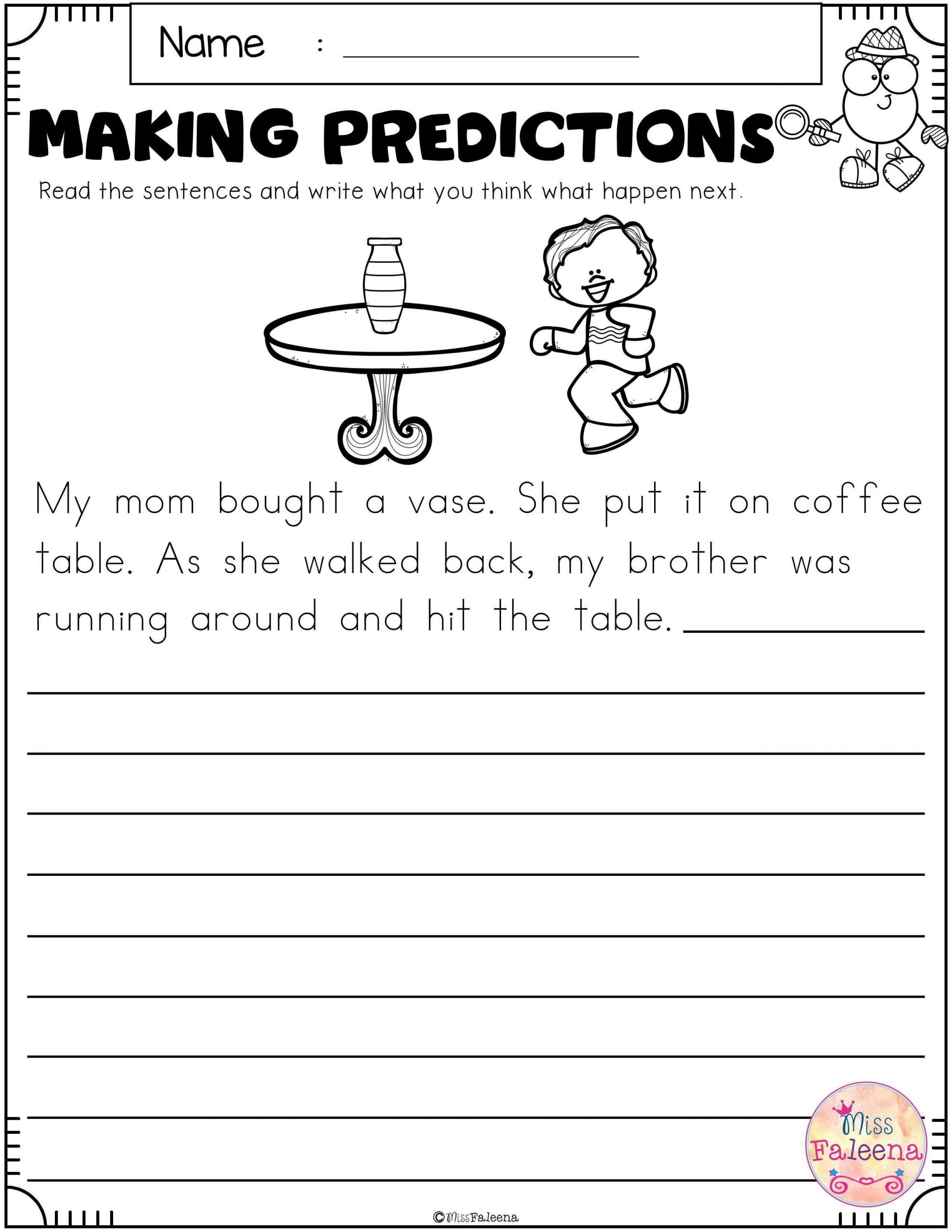 Making Predictions Worksheets 2nd Grade Free Making Predictions Contains 8 Pages Of Making