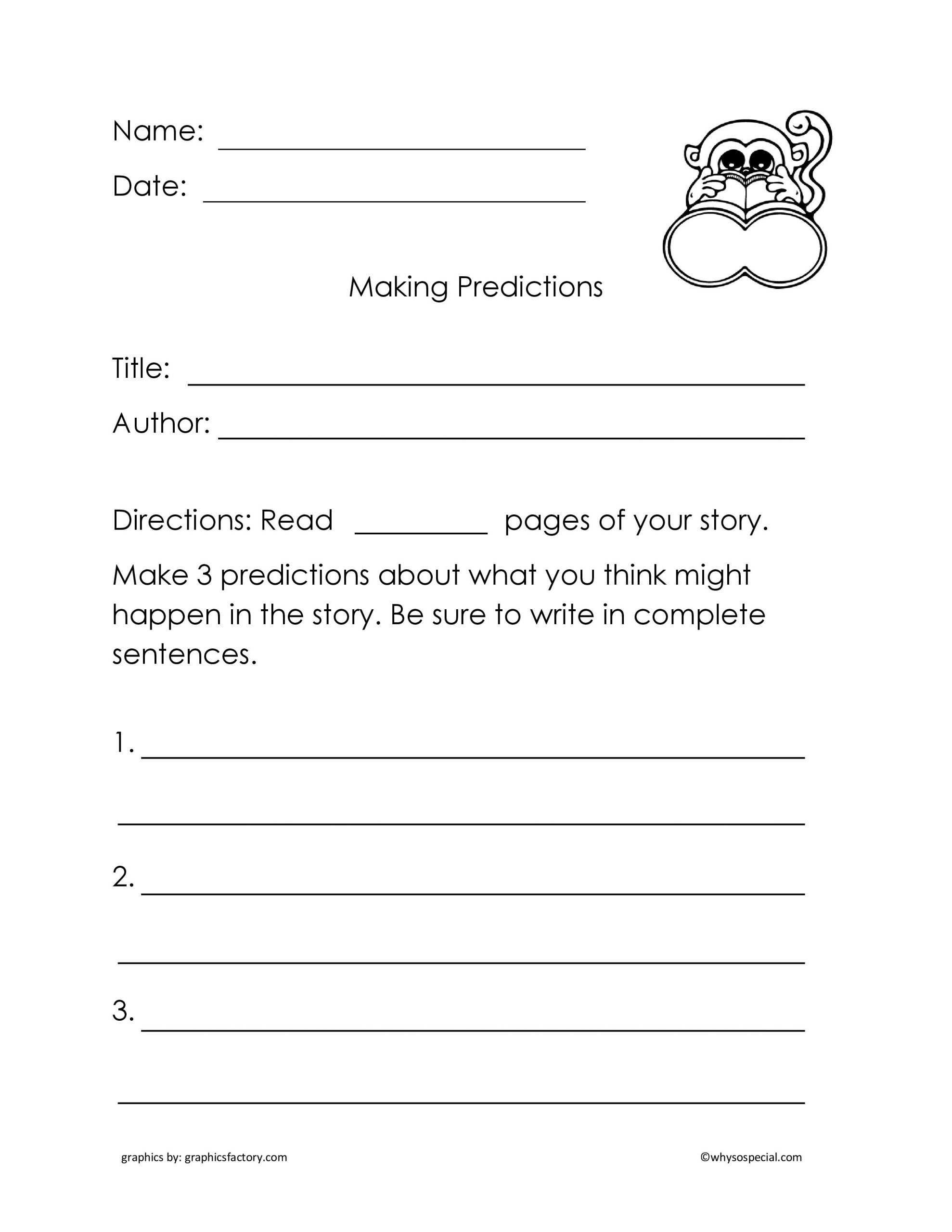 Making Predictions Worksheets 2nd Grade Making Predictions Weather Worksheet