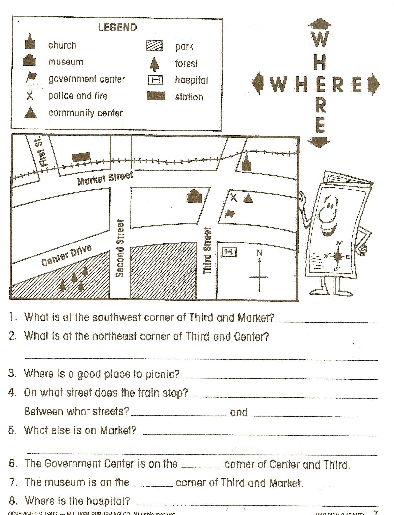 Map Reading Practice Worksheets social Stu S Worksheets Google Search