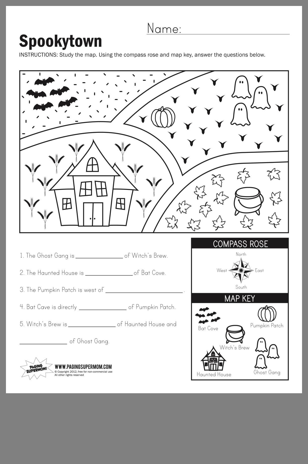 Map Worksheets for First Grade Pin by Alex Neithardt On School