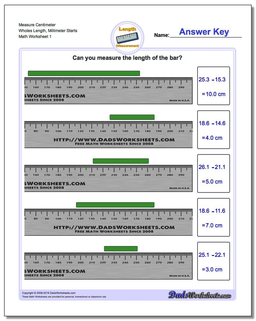 Measurement Worksheets 5th Grade Metric Measurement