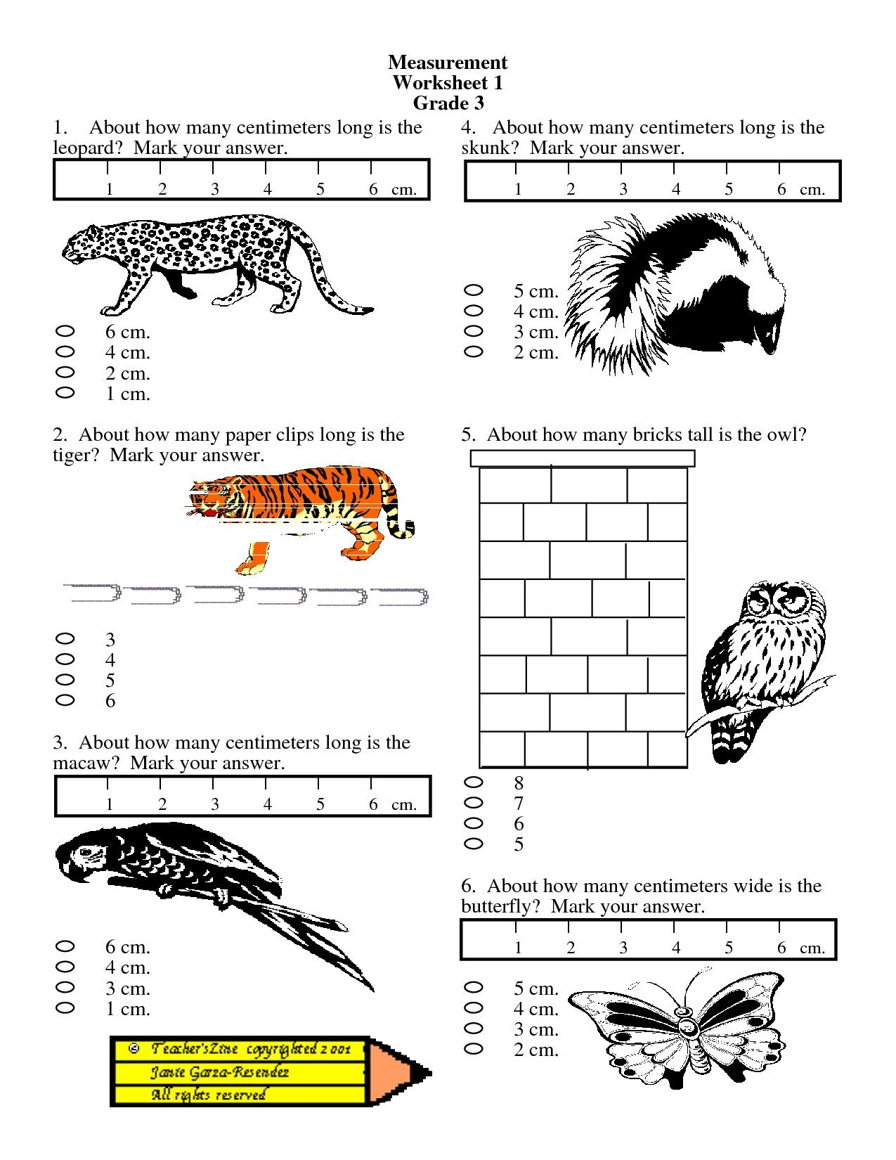 Measurement Worksheets Grade 3 Math Worksheet Tremendous Measurement Worksheets Grade 3