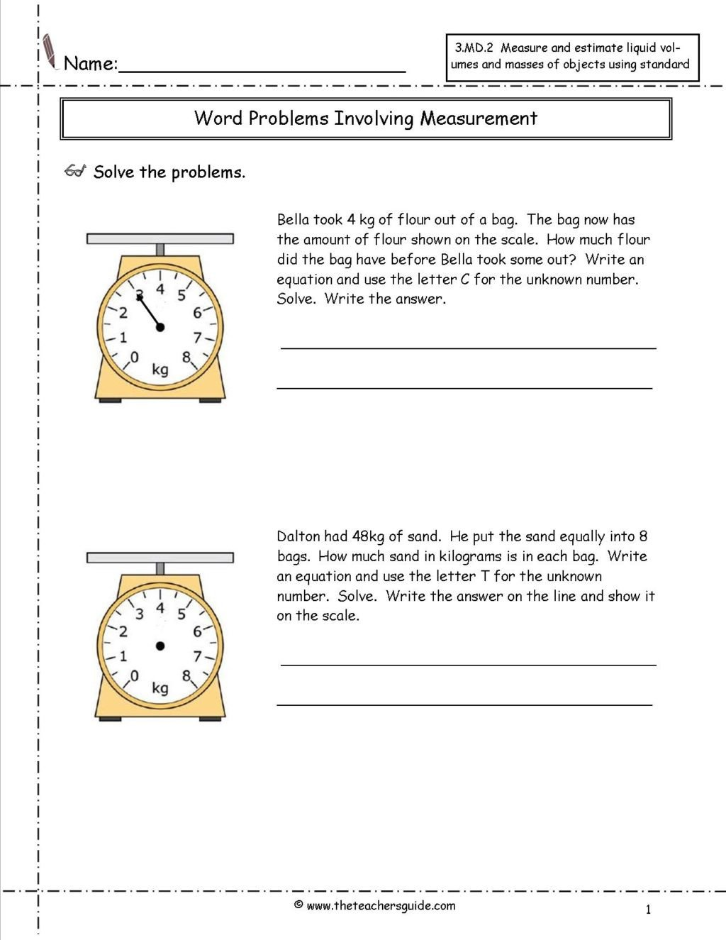 measurement worksheets grade kgwordproblems awesome picture inspirations free printable caps 1024x1325