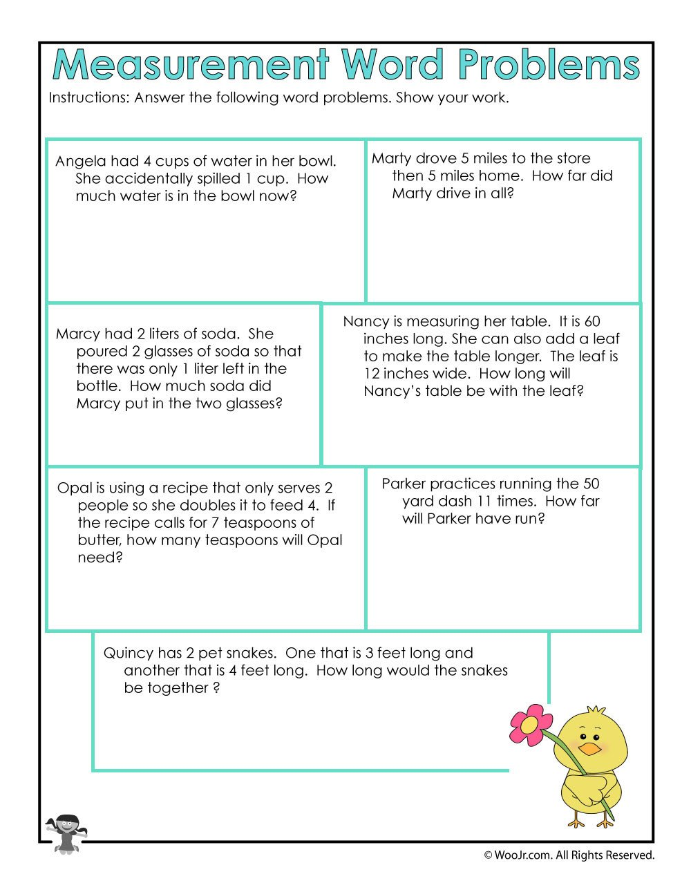 Measuring Inches Worksheet Math Measurement Word Problems Worksheet
