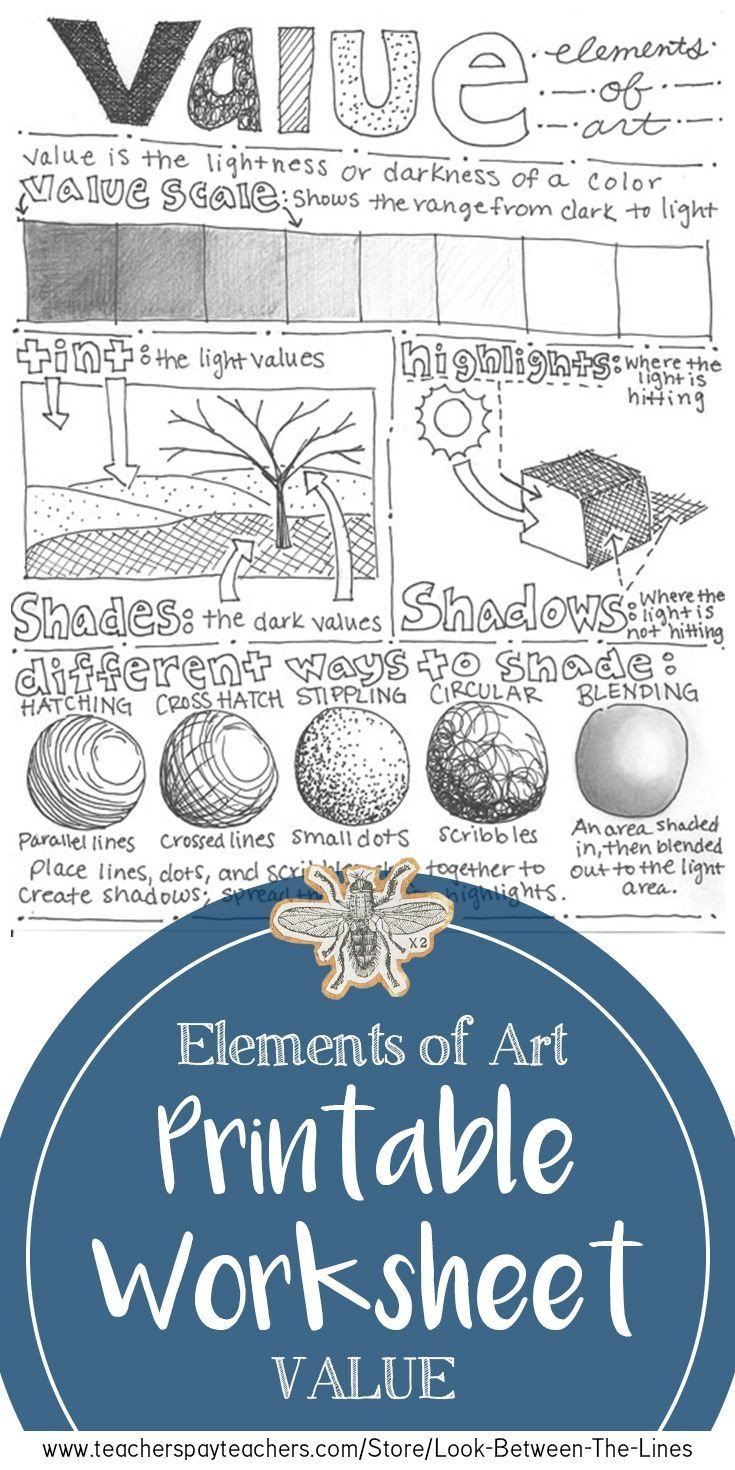 Middle School Art Worksheets Image Result for High School Art Worksheets