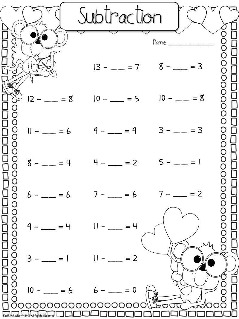 Missing Addends Worksheets First Grade Find the Missing Addend Worksheet Download