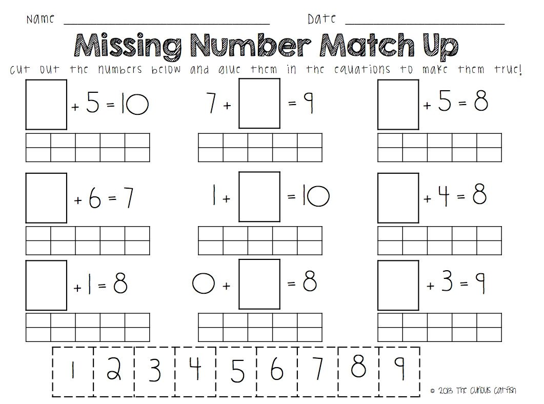 Missing Number Worksheets 2nd Grade 2nd Grade Missing Number Worksheet