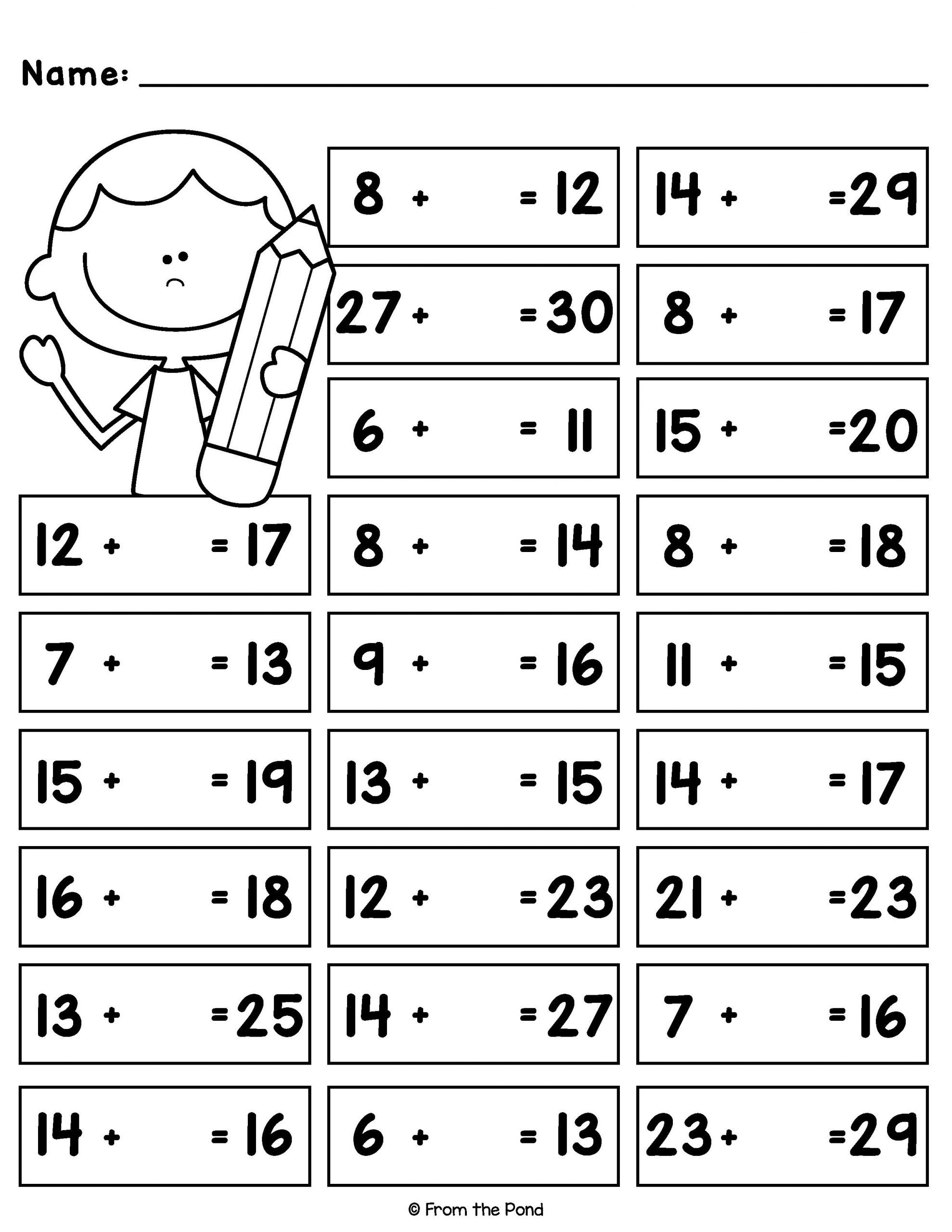 Missing Numbers Addition Worksheets Pin On Addition