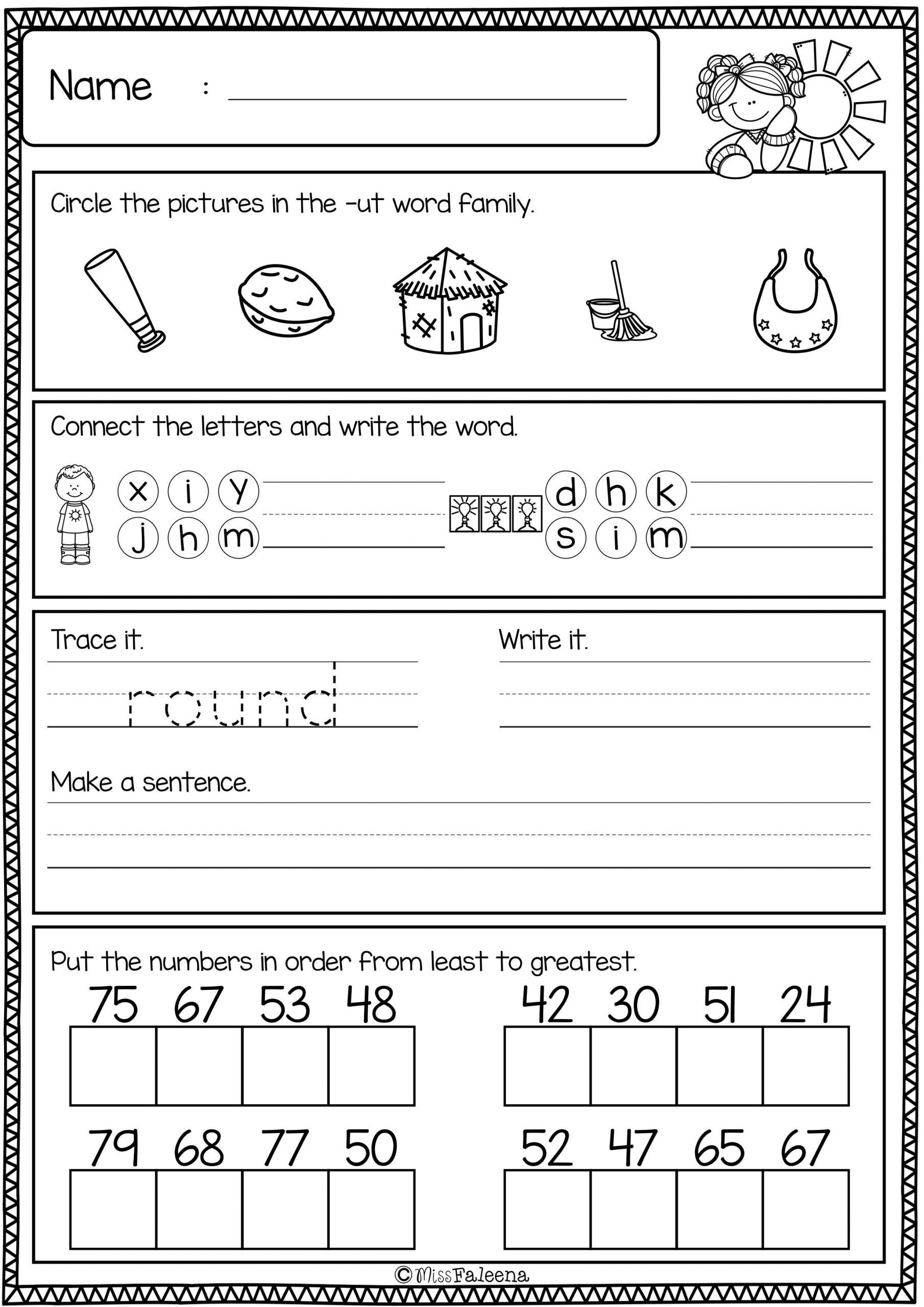 Morning Work Worksheets First Grade Morning Work Set 2 Includes 60 Pages Of Morning