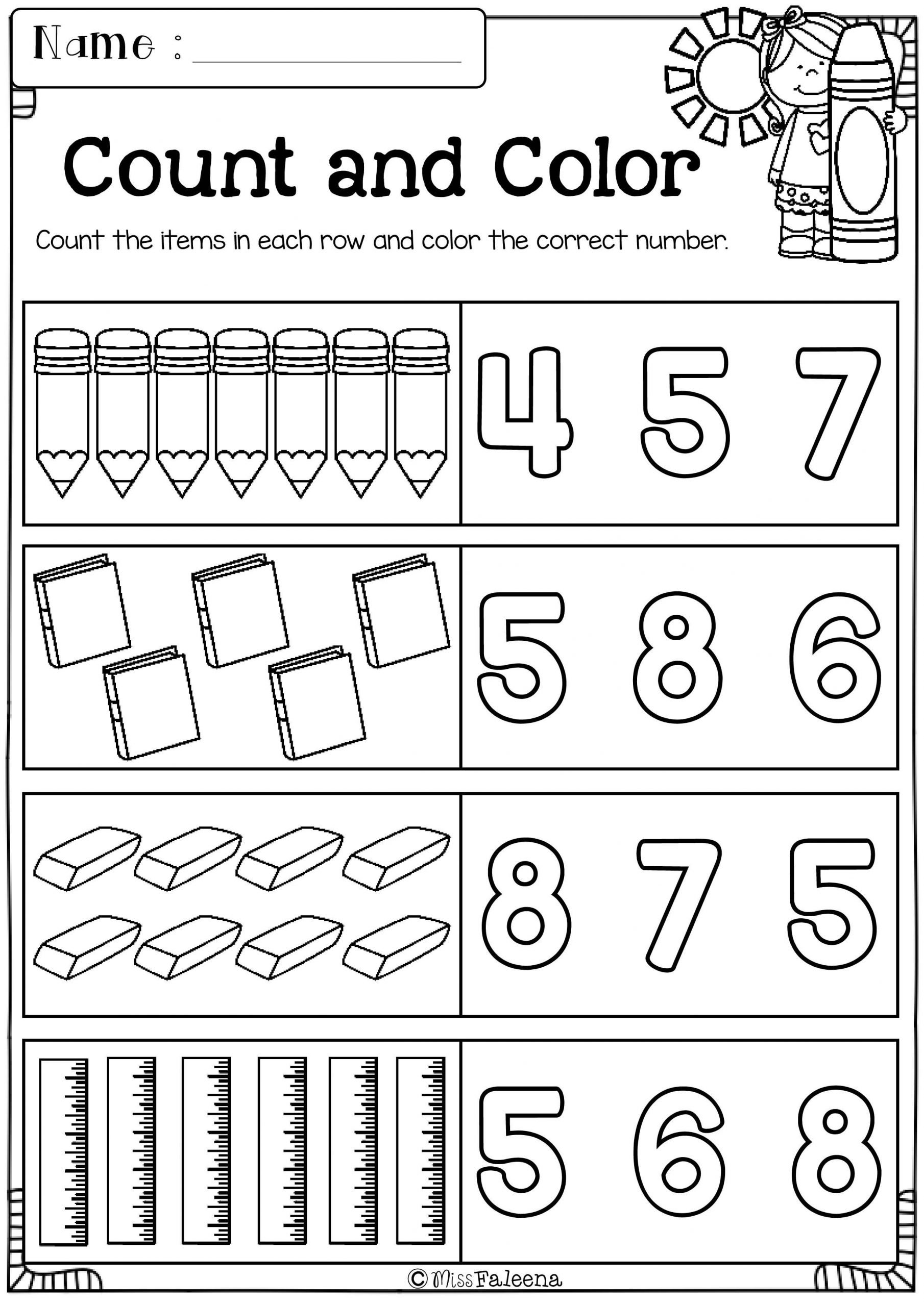 Morning Worksheets for Kindergarten Free Kindergarten Morning Work