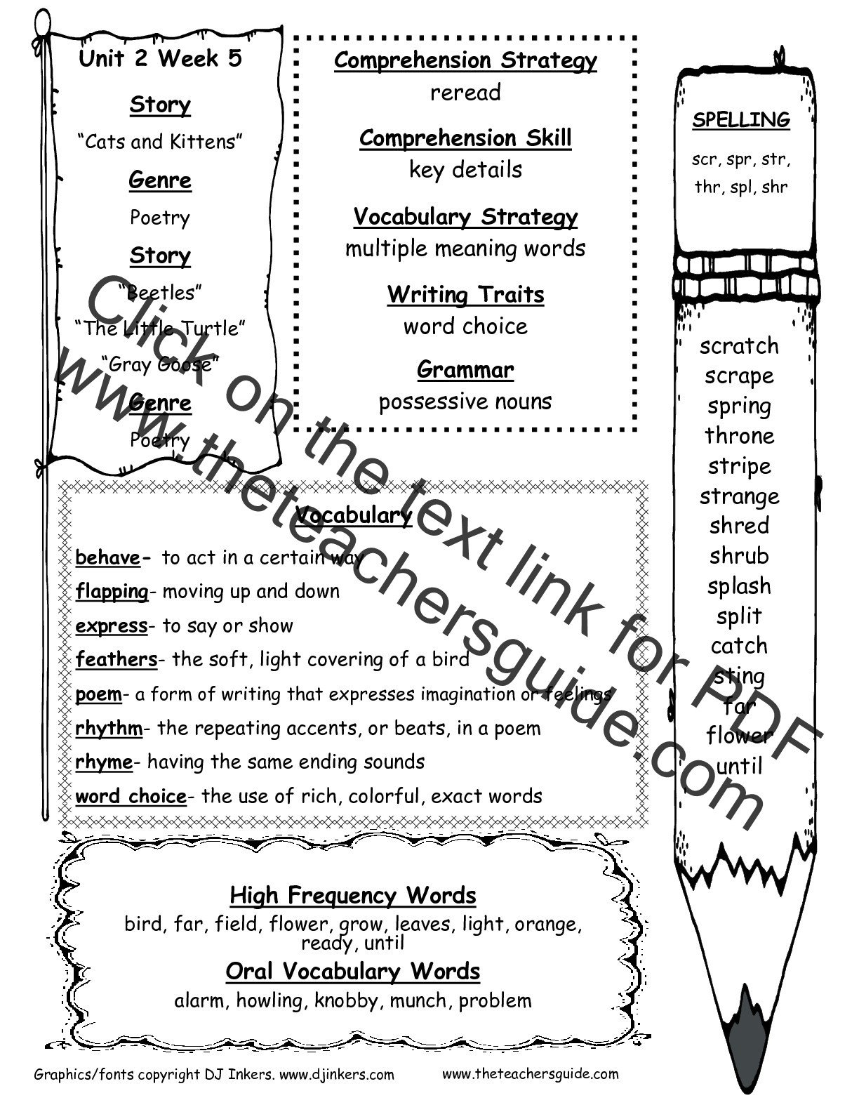 Multiple Meaning Words Worksheet Wonders Second Grade Unit Two Week Five Printouts