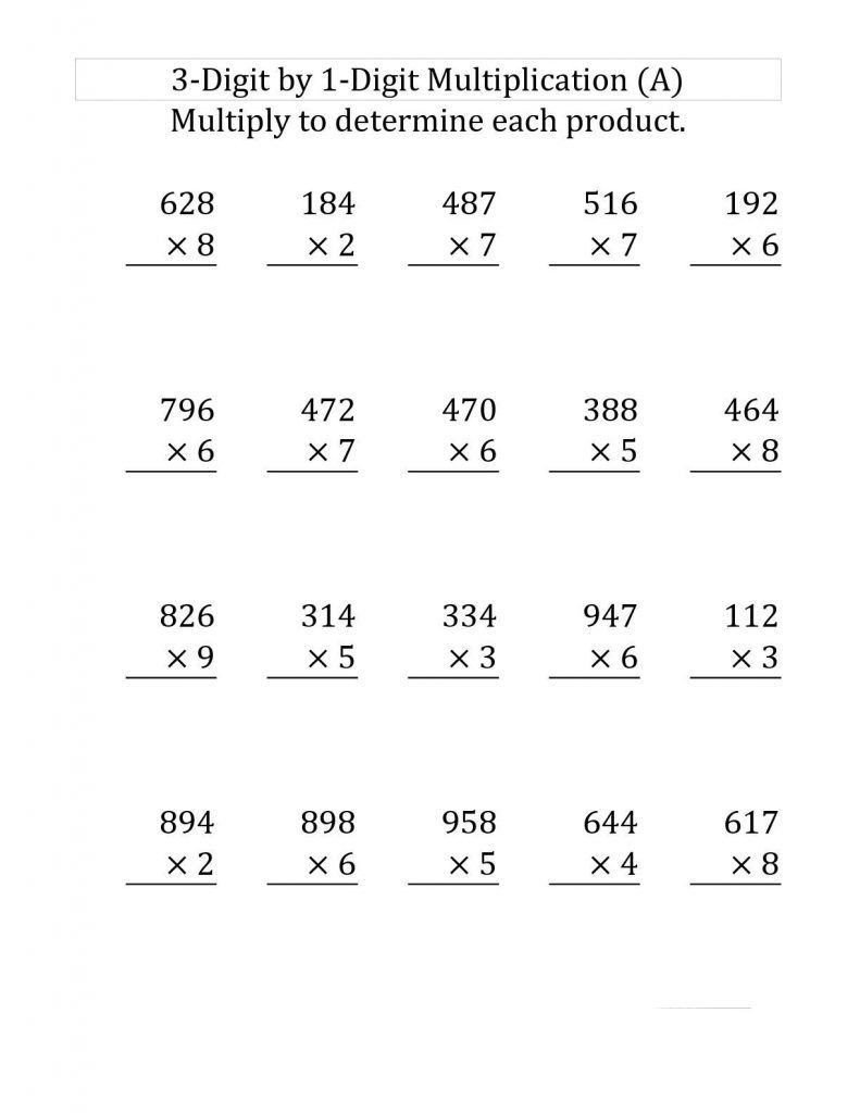 Multiplication Worksheets with Pictures 2 Free 4th Grade Worksheets In 2020