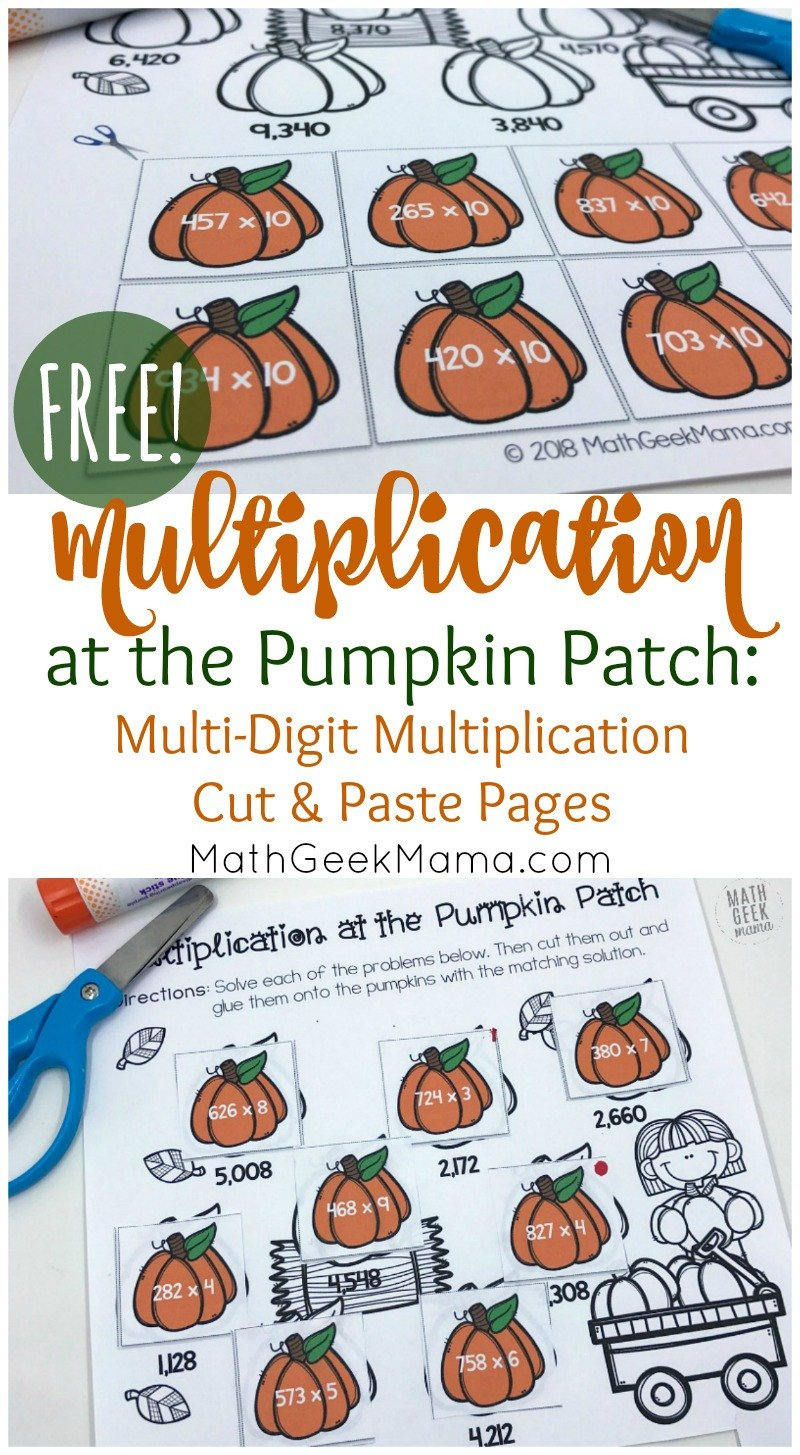 Multiplication Worksheets with Pictures Free Multi Digit Multiplication Worksheets for Fall