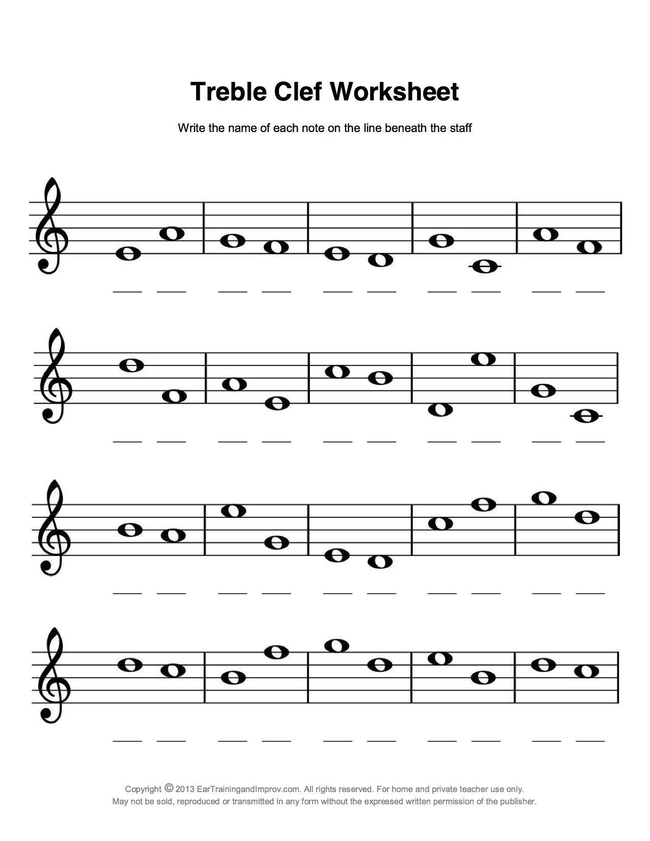 Music theory Worksheet for Kids Easy Fun Music theory