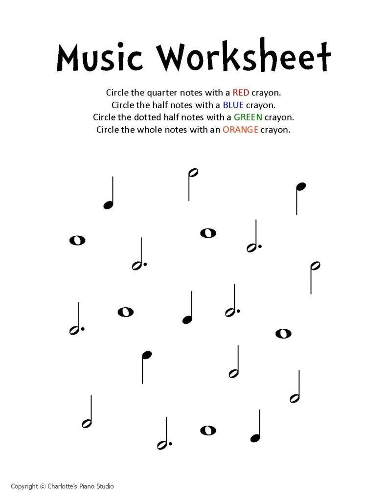 Music theory Worksheet for Kids Music Worksheet Charlottes Piano Studio Lessons In West