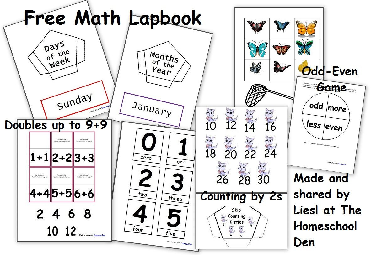 Native American Math Worksheets Free Math Lapbook Prek K 1st Grade Homeschool Den
