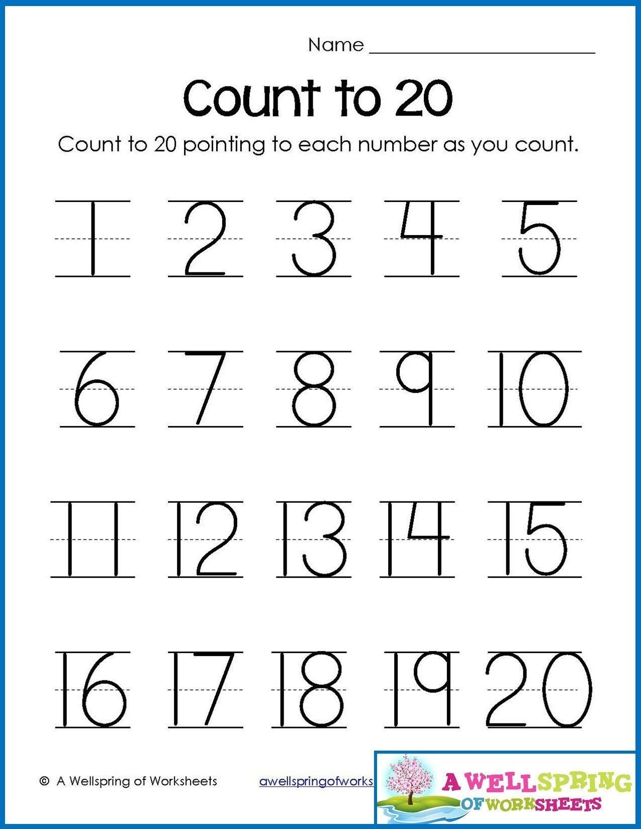Number Recognition Worksheets 1 20 Free Printable Number Tracing Worksheets Numbers 1 20