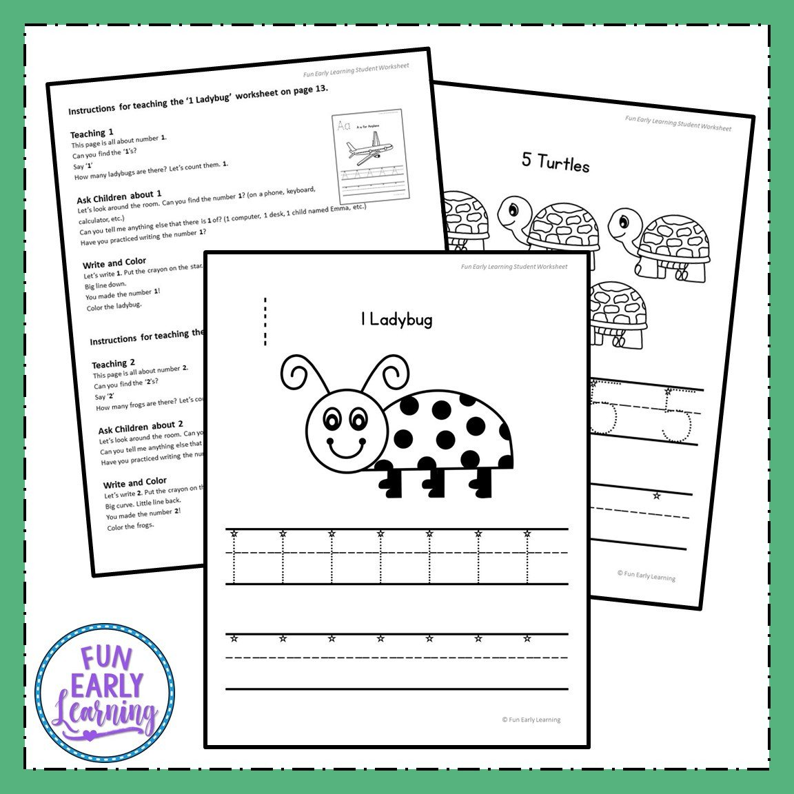 Number Recognition Worksheets 1 20 Numbers 1 20 Worksheets with Guided Lessons