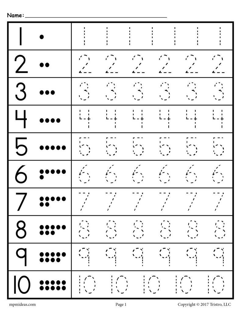 Number Recognition Worksheets 1 20 Tracing Worksheets Numbers 1 20 – Supplyme