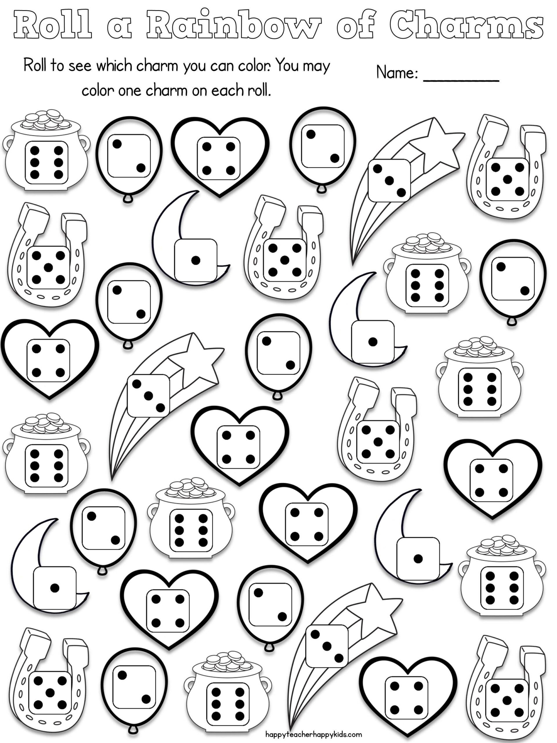 Number Recognition Worksheets 1 20 Worksheets Free Lucky Charms Math More with Charm