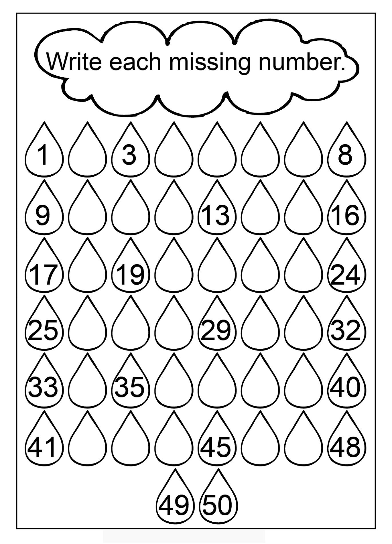 Number Recognition Worksheets 1 20 Worksheets Kindergarten Missing Number Worksheet Printable